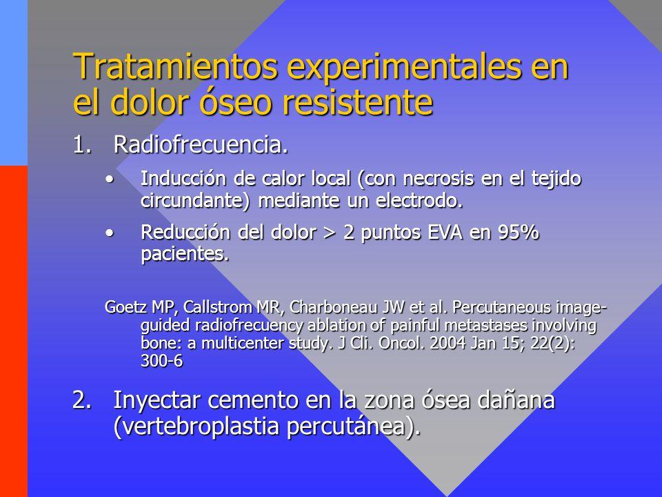 Tratamientos experimentales en el dolor óseo resistente