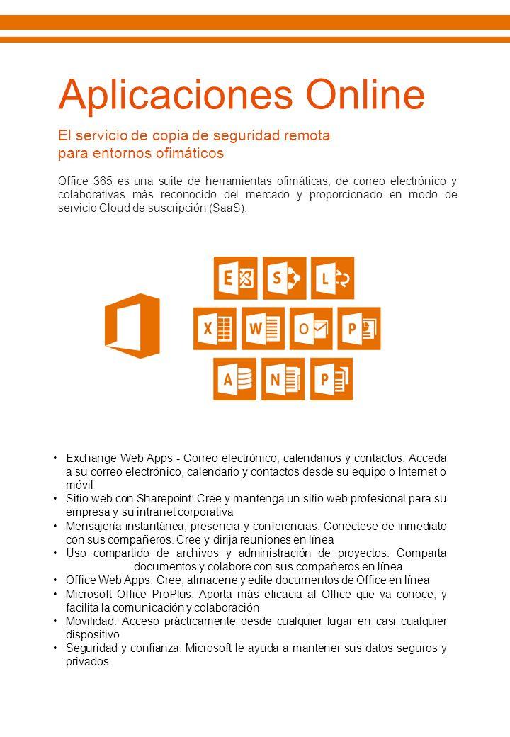 Aplicaciones Online El servicio de copia de seguridad remota