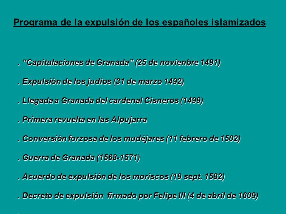 Programa de la expulsión de los españoles islamizados