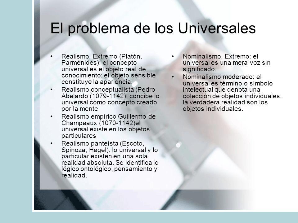 El problema de los Universales