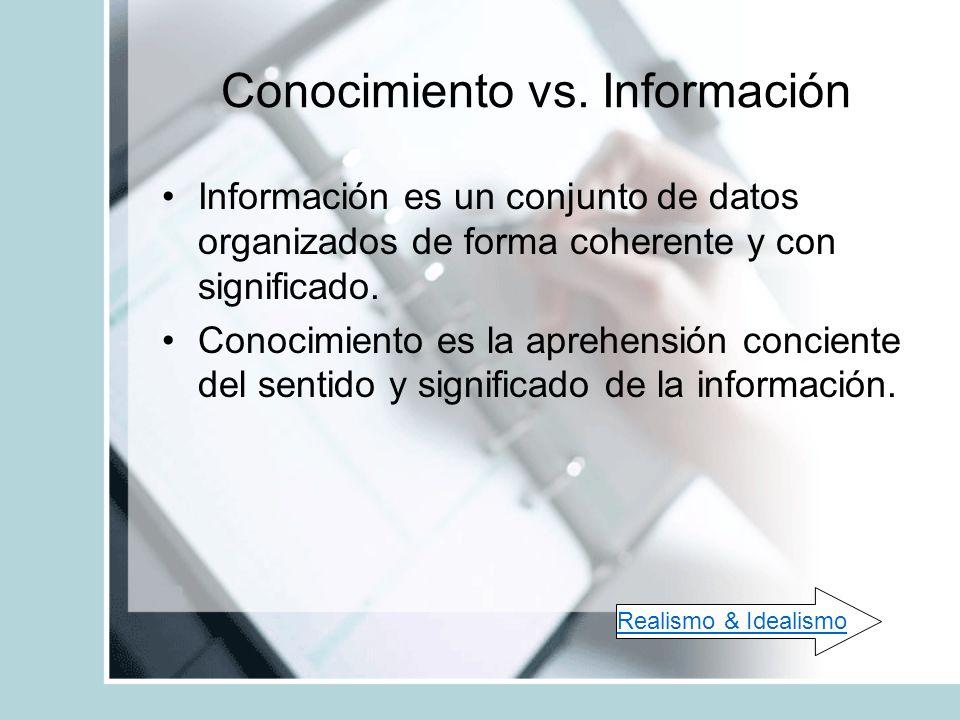 Conocimiento vs. Información