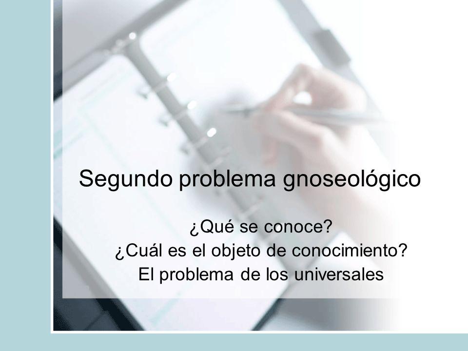 Segundo problema gnoseológico