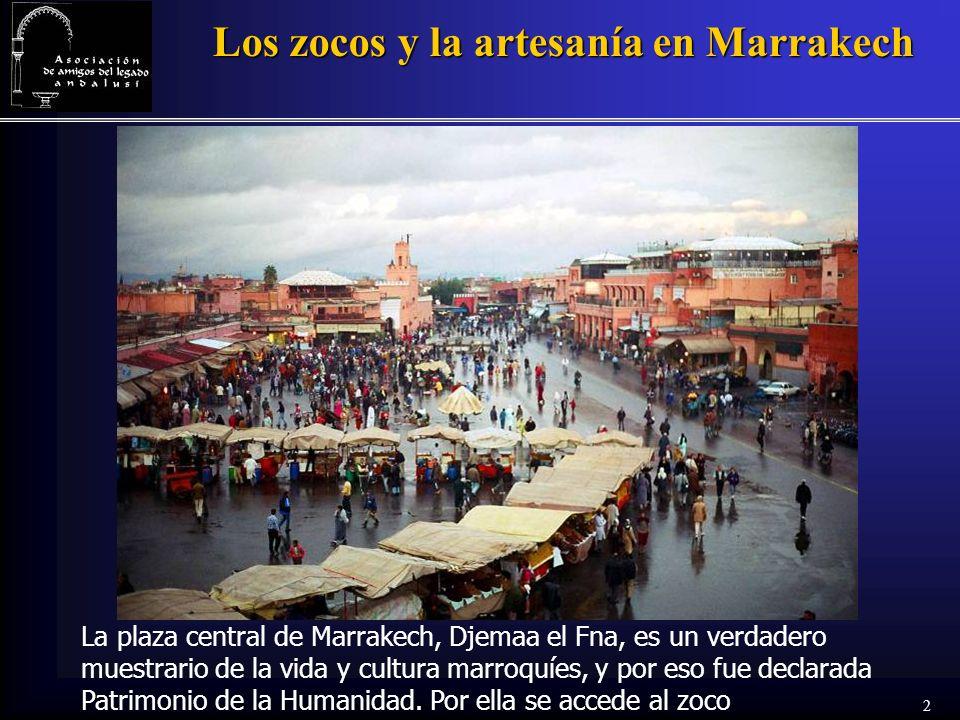 Los zocos y la artesanía en Marrakech