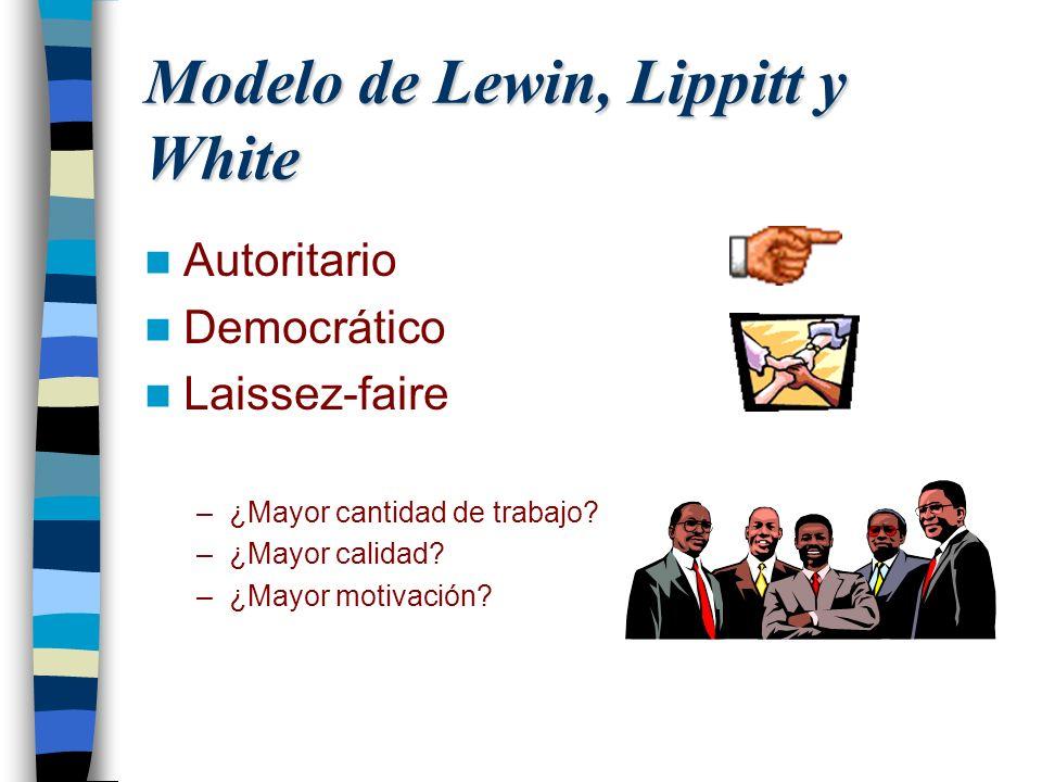 Modelo de Lewin, Lippitt y White