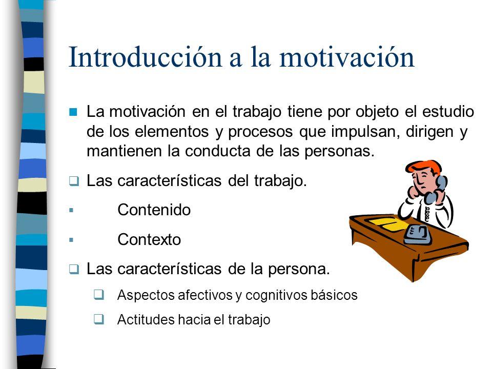 Introducción a la motivación
