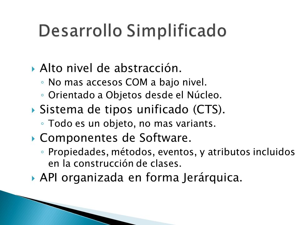 Desarrollo Simplificado
