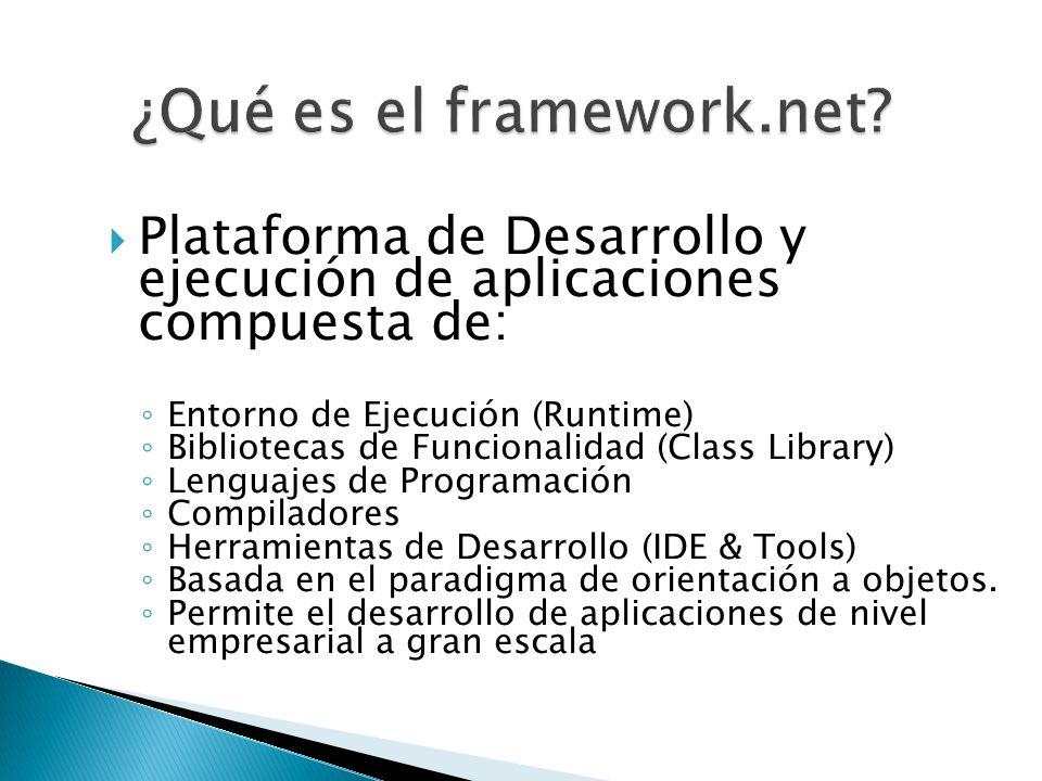 ¿Qué es el framework.net