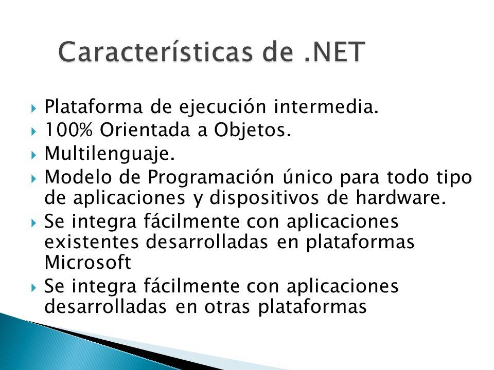 Características de .NET