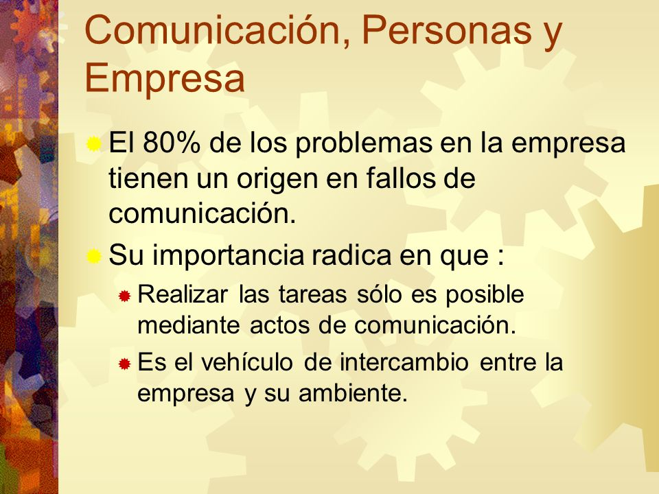 Comunicación, Personas y Empresa