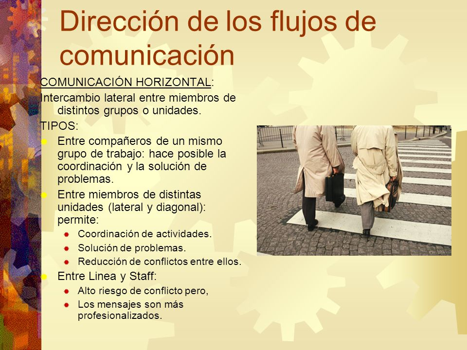 Dirección de los flujos de comunicación