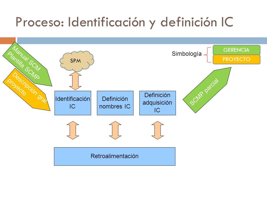 Proceso: Identificación y definición IC