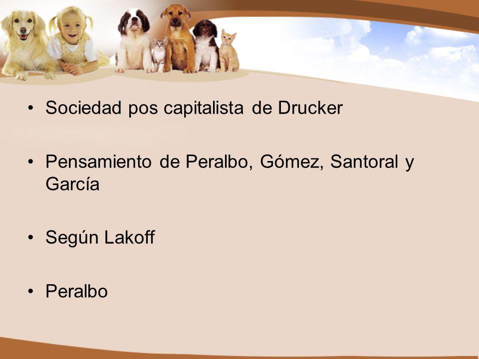 Sociedad pos capitalista de Drucker