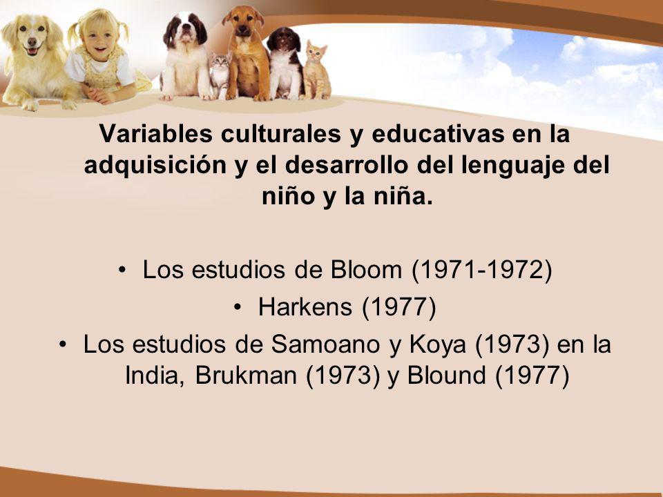 Los estudios de Bloom (1971-1972)