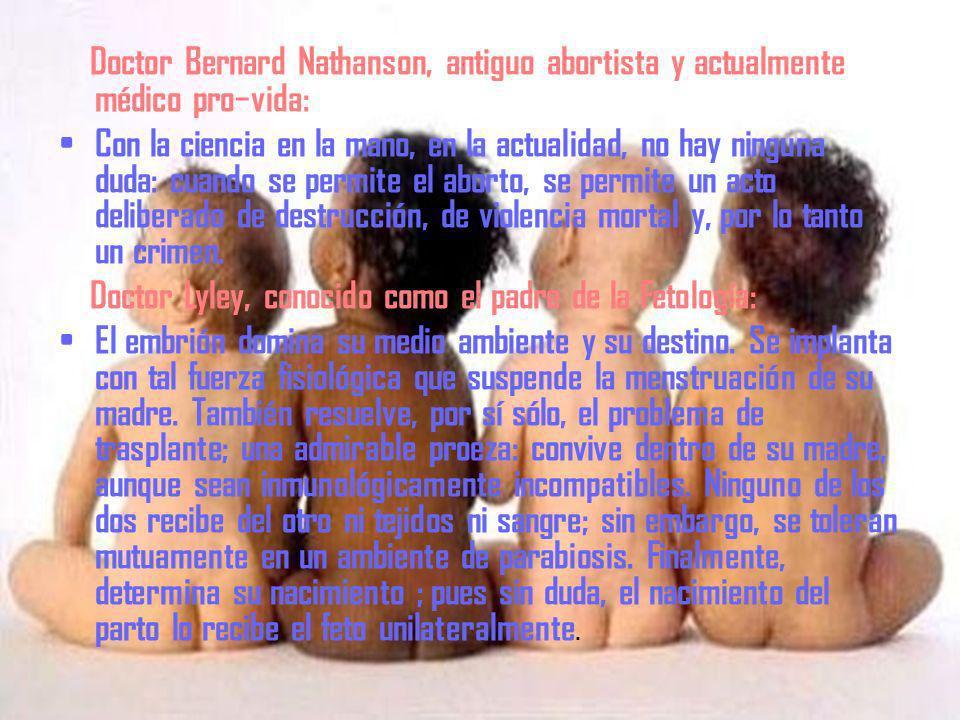 Doctor Bernard Nathanson, antiguo abortista y actualmente médico pro−vida: