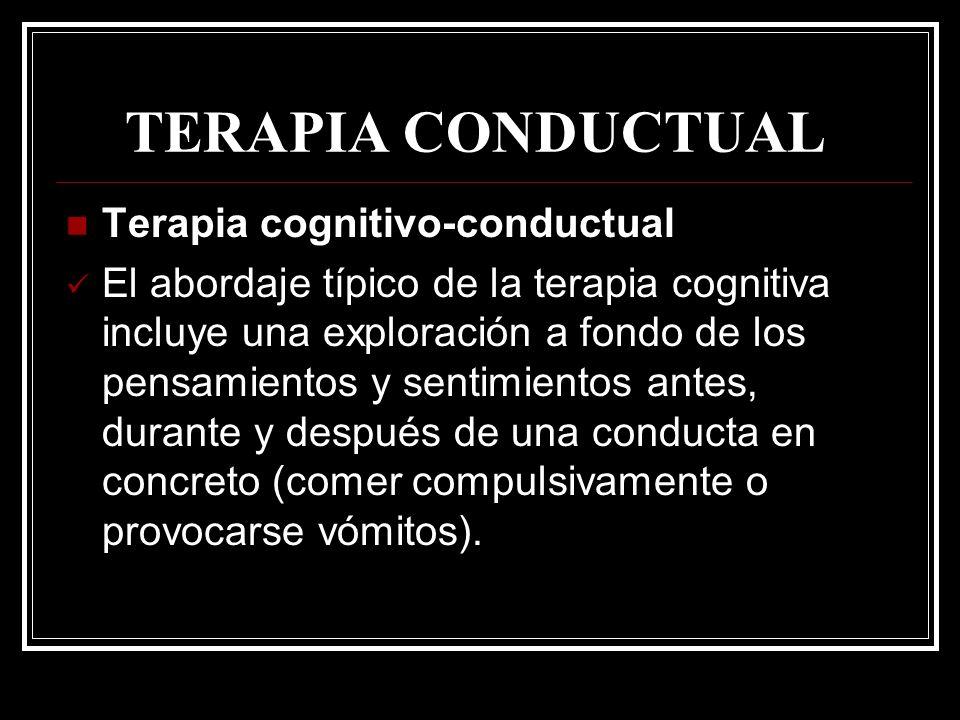 TERAPIA CONDUCTUAL Terapia cognitivo-conductual