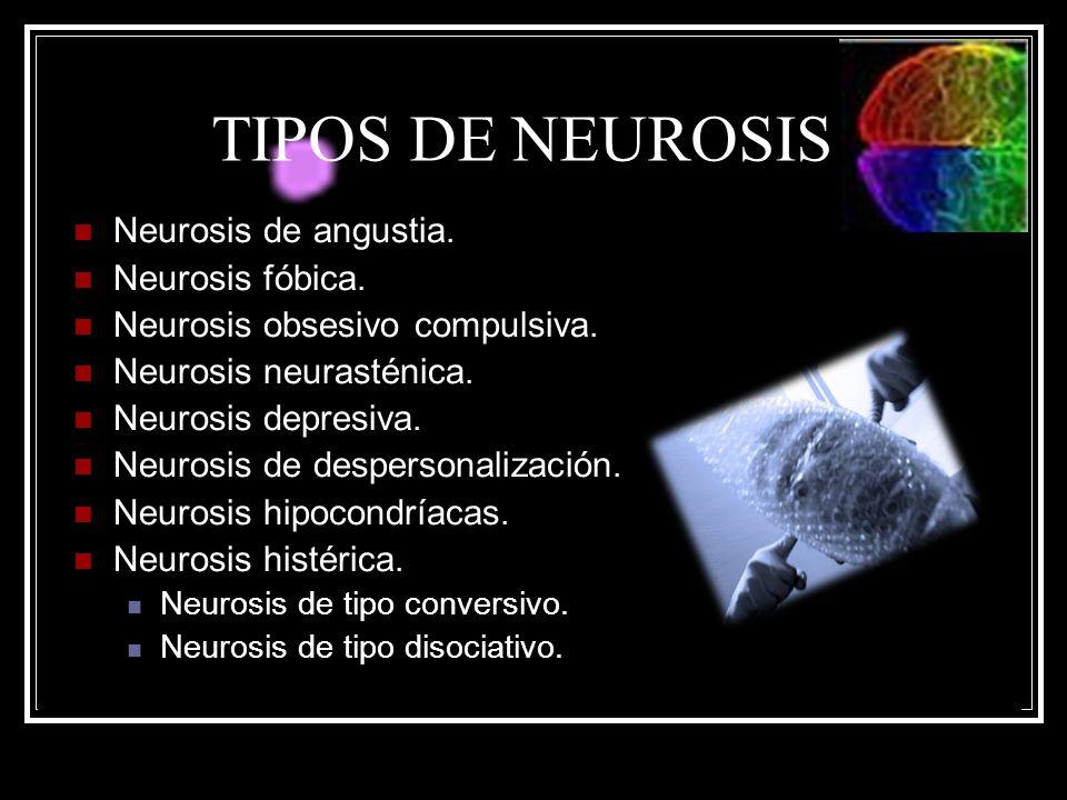 TIPOS DE NEUROSIS Neurosis de angustia. Neurosis fóbica.