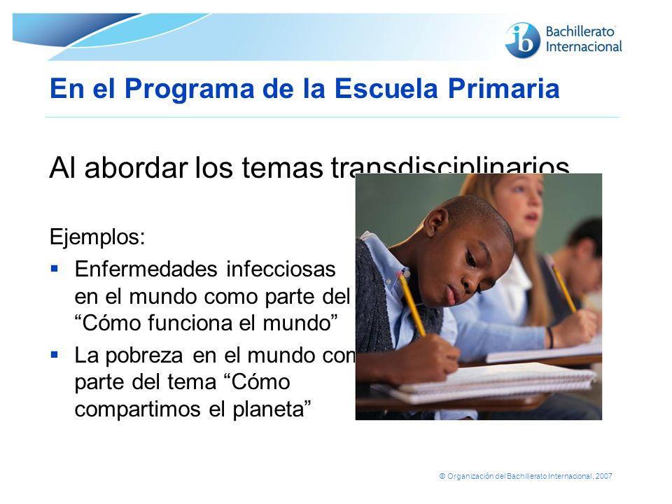 En el Programa de la Escuela Primaria