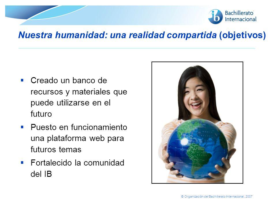 Nuestra humanidad: una realidad compartida (objetivos)