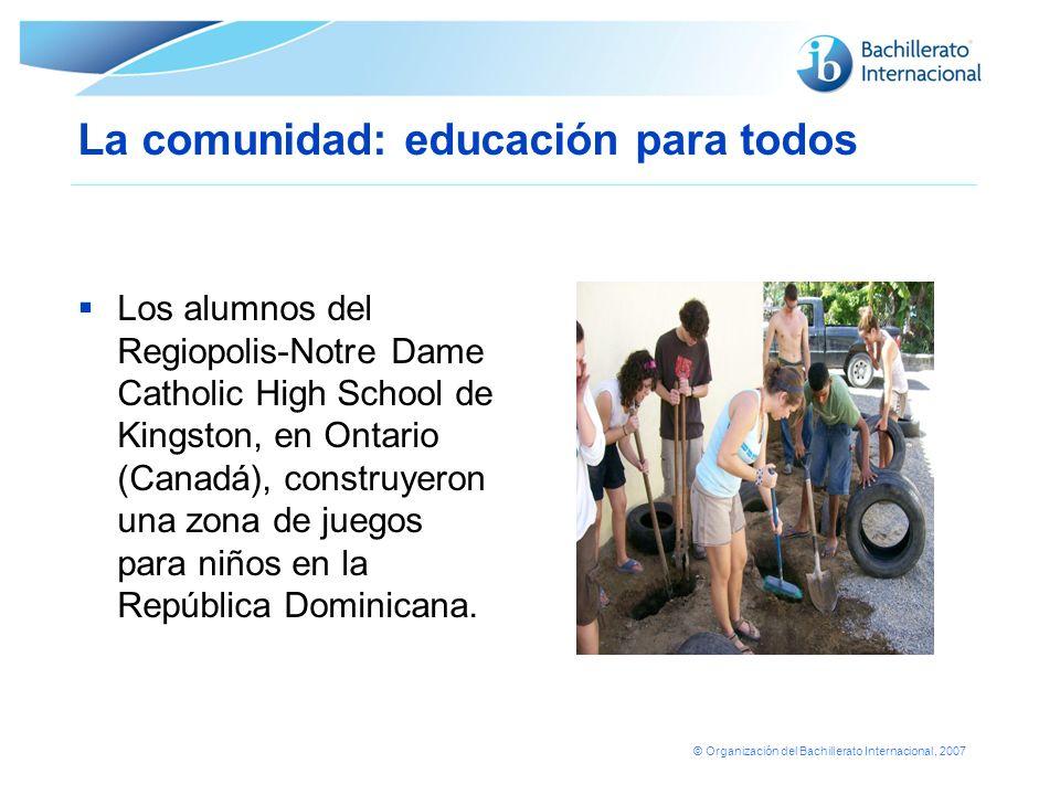 La comunidad: educación para todos