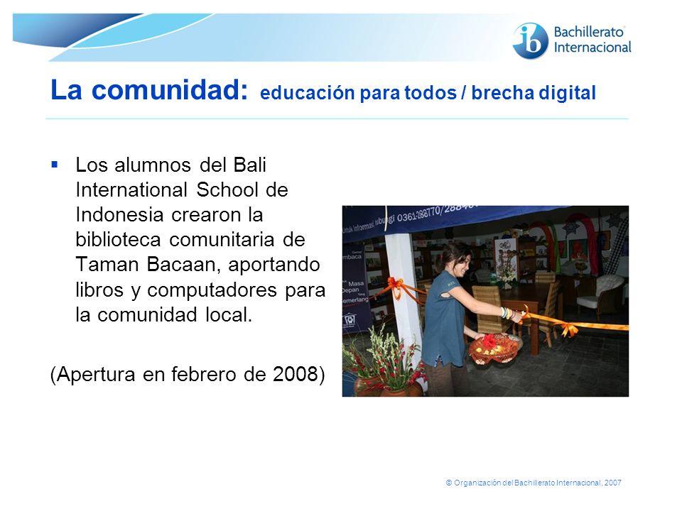 La comunidad: educación para todos / brecha digital