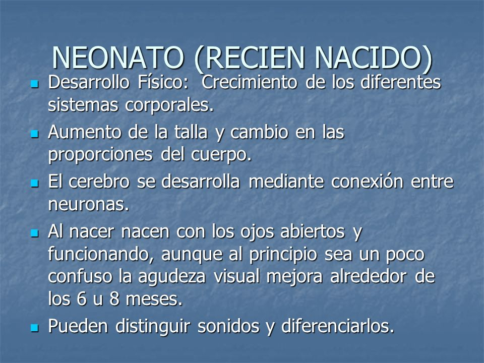 NEONATO (RECIEN NACIDO)