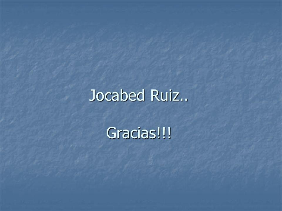 Jocabed Ruiz.. Gracias!!!