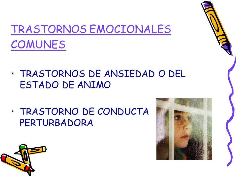 TRASTORNOS EMOCIONALES COMUNES