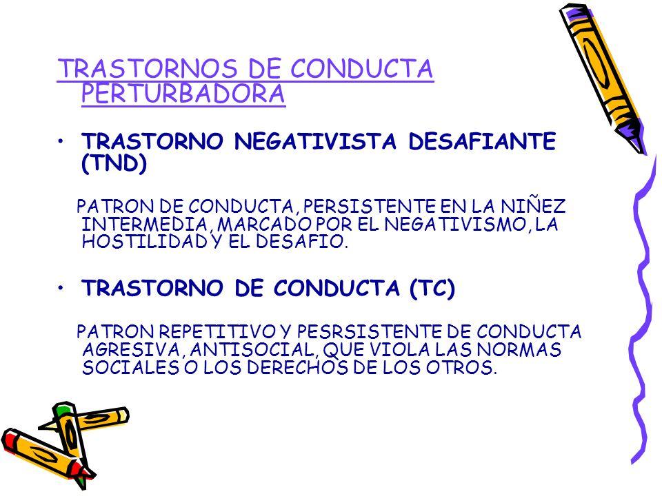 TRASTORNOS DE CONDUCTA PERTURBADORA