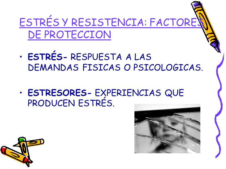 ESTRÉS Y RESISTENCIA: FACTORES DE PROTECCION