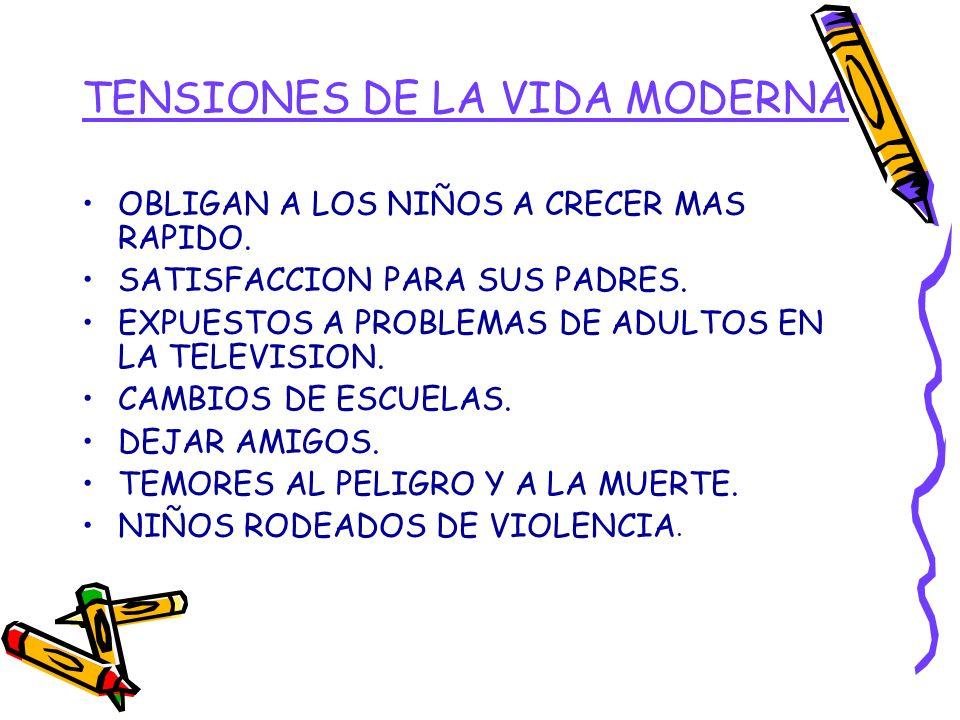 TENSIONES DE LA VIDA MODERNA
