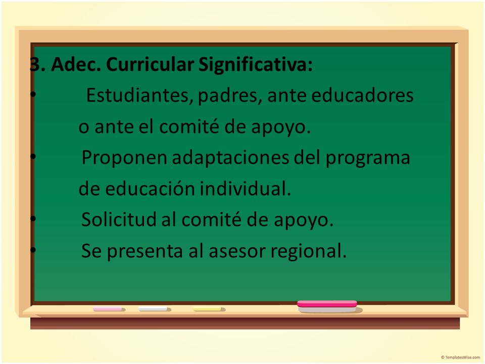 3. Adec. Curricular Significativa: