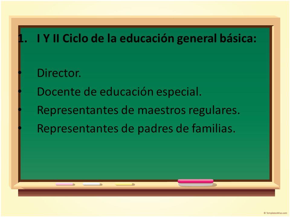 I Y II Ciclo de la educación general básica: