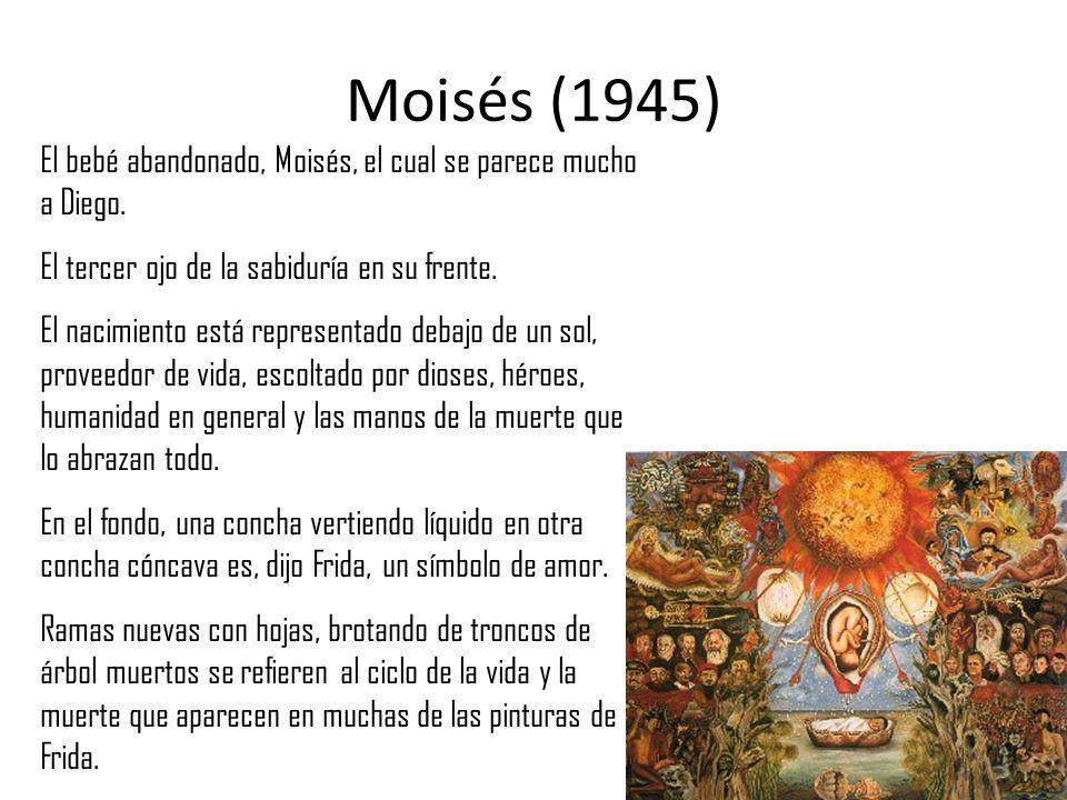 Moisés (1945) El bebé abandonado, Moisés, el cual se parece mucho a Diego. El tercer ojo de la sabiduría en su frente.