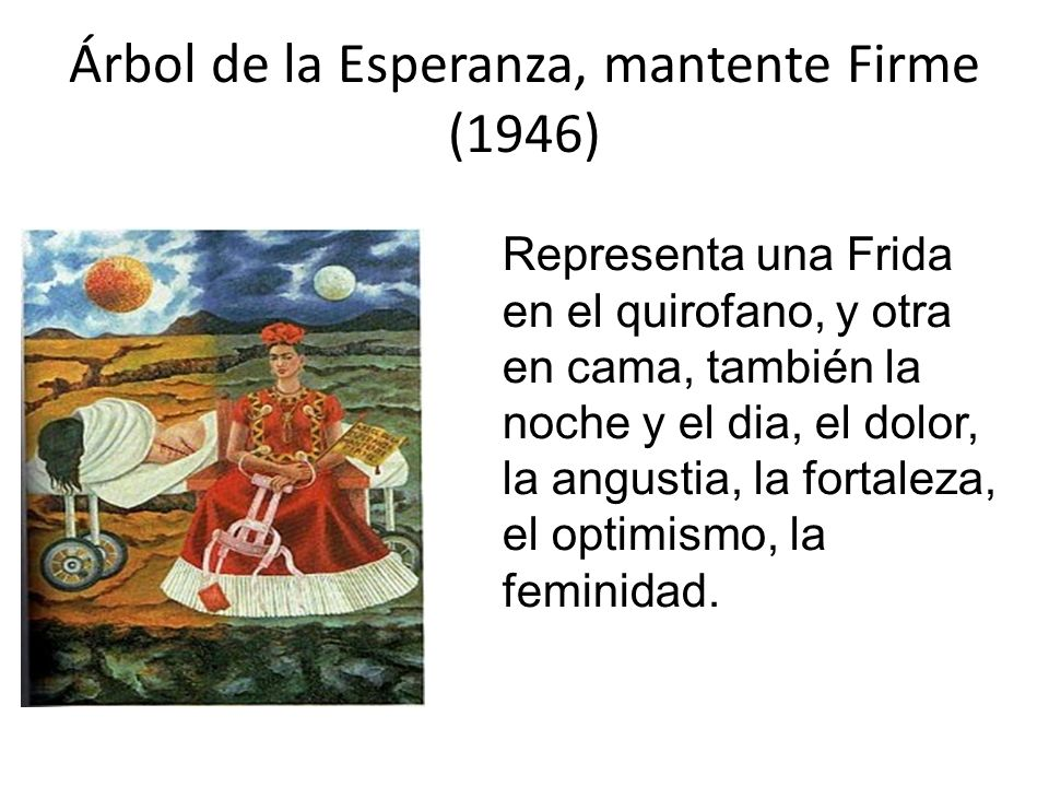 Árbol de la Esperanza, mantente Firme (1946)