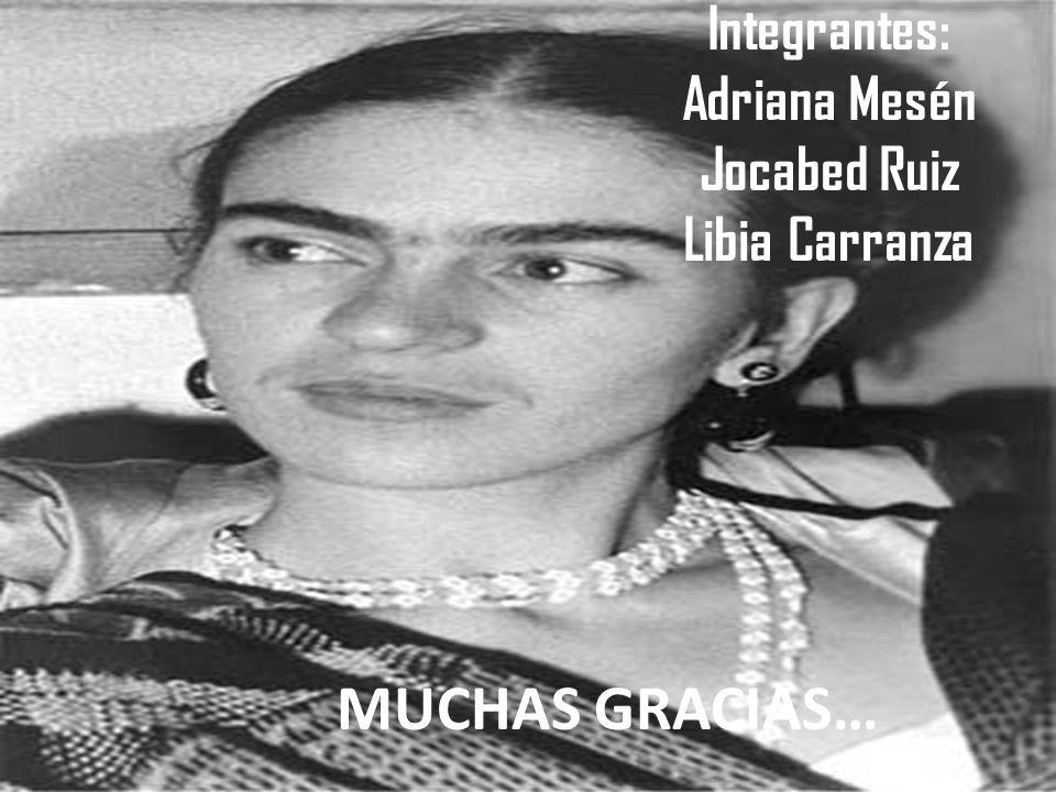 Integrantes: Adriana Mesén Jocabed Ruiz Libia Carranza