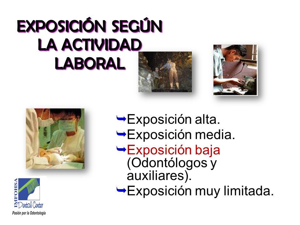 EXPOSICIÓN SEGÚN LA ACTIVIDAD LABORAL