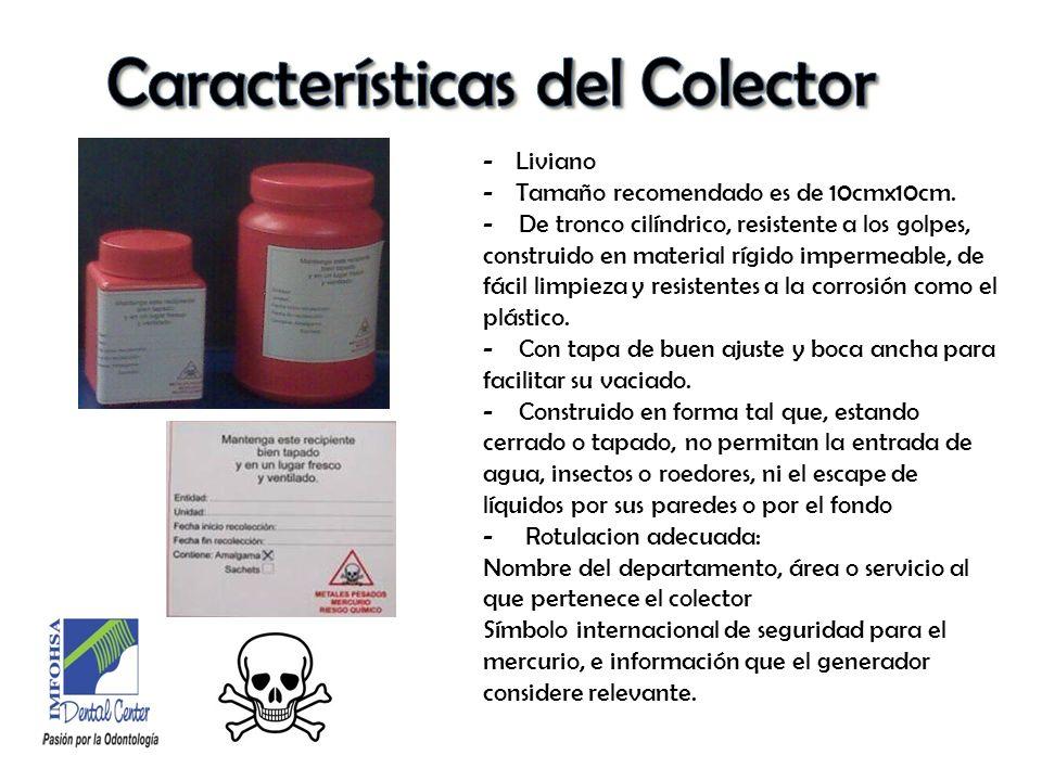 Características del Colector
