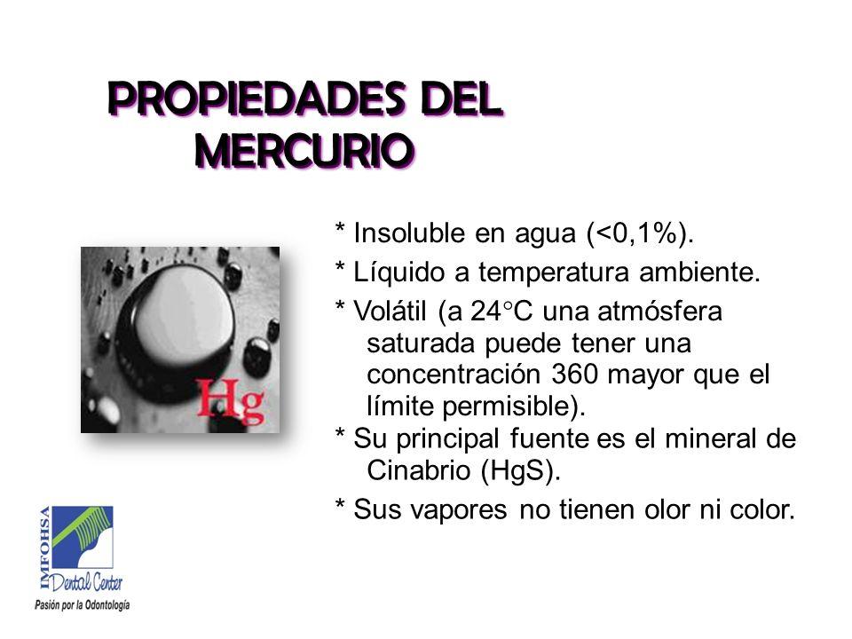 PROPIEDADES DEL MERCURIO