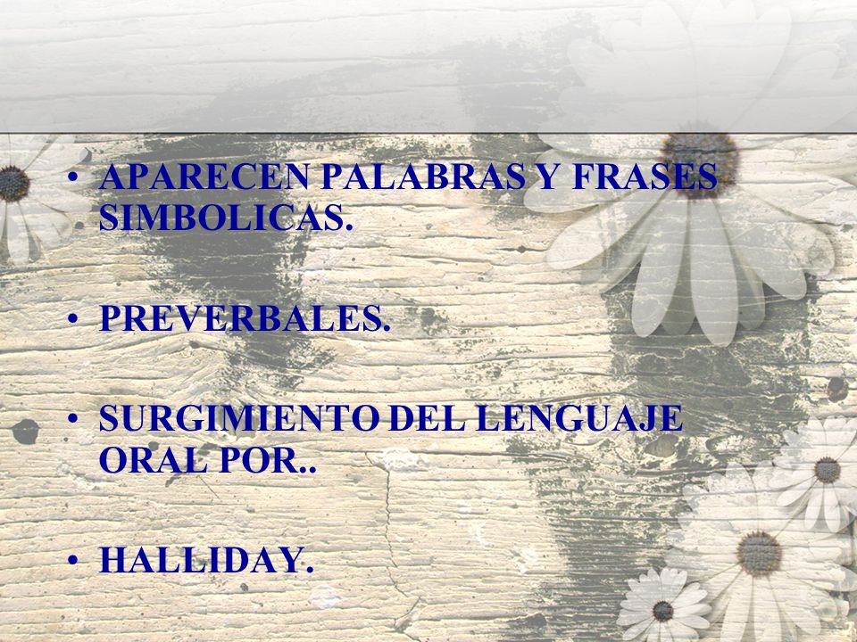 APARECEN PALABRAS Y FRASES SIMBOLICAS.