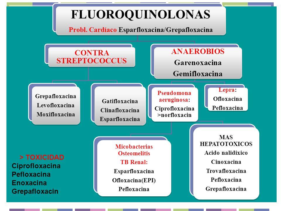 FLUOROQUINOLONAS ANAEROBIOS CONTRA STREPTOCOCCUS Garenoxacina