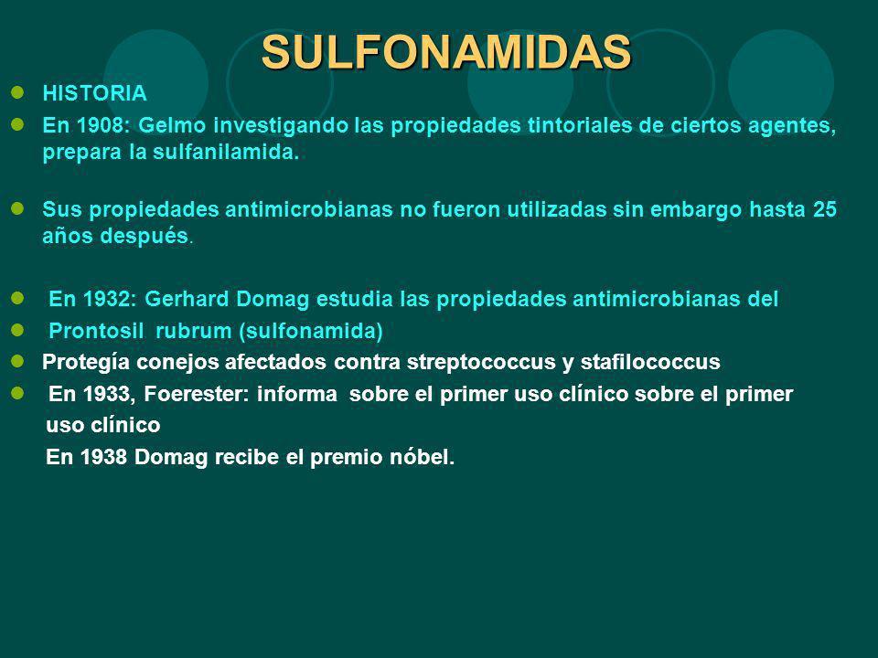 SULFONAMIDAS HISTORIA