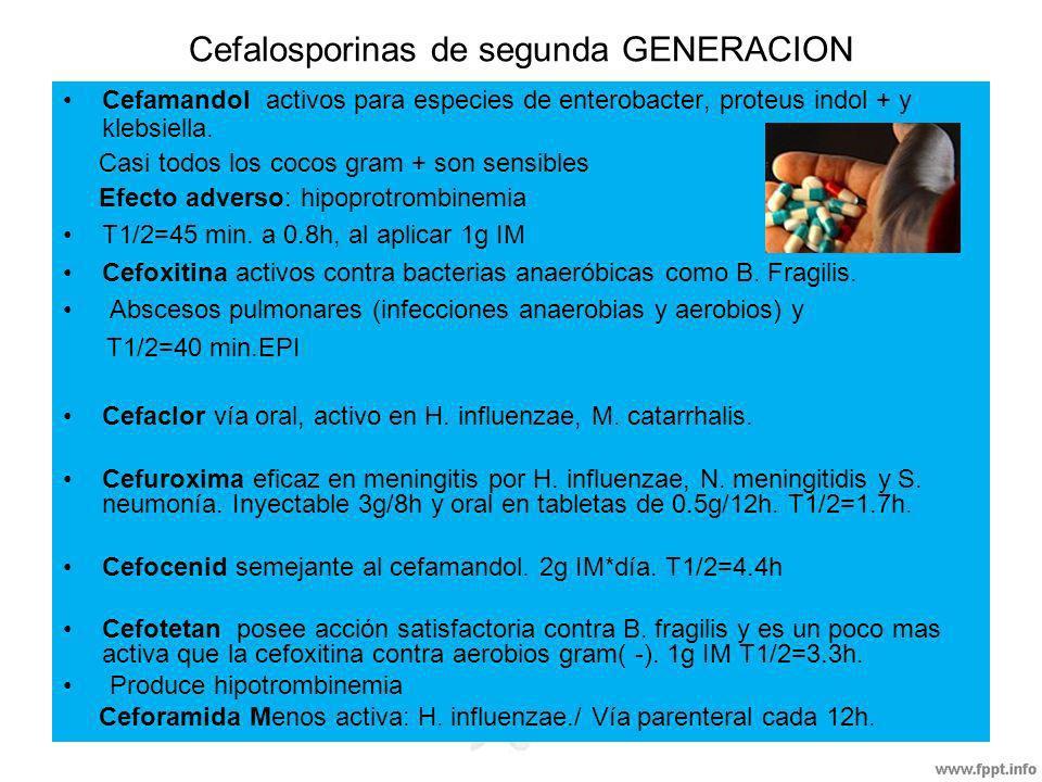 Cefalosporinas de segunda GENERACION