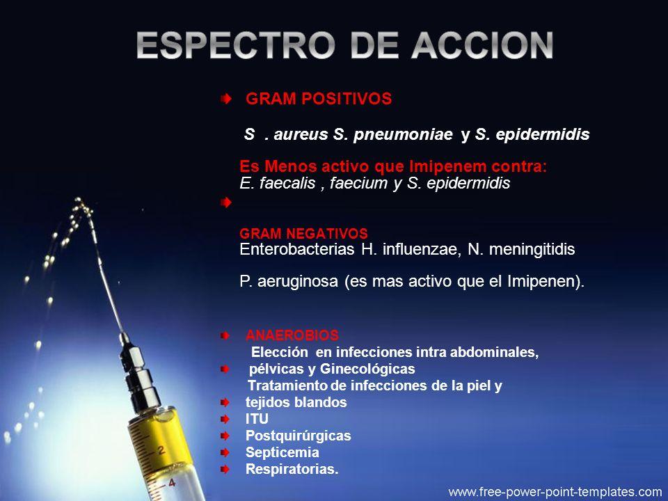 ESPECTRO DE ACCION GRAM POSITIVOS