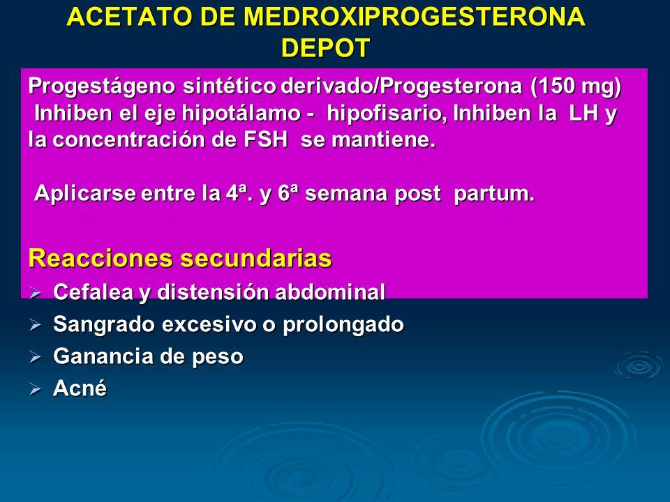 ACETATO DE MEDROXIPROGESTERONA DEPOT