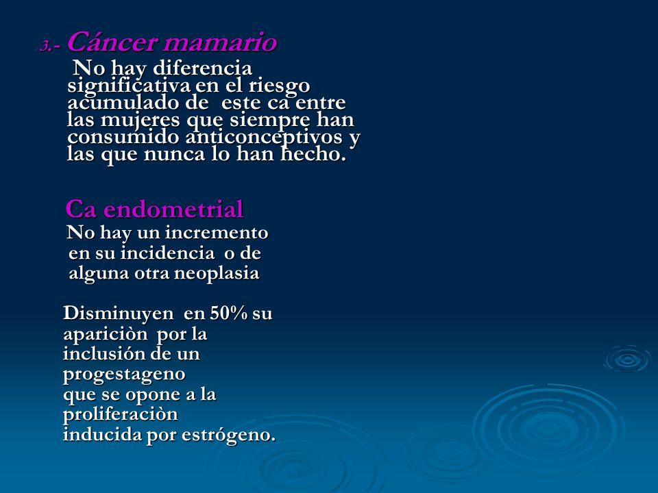 3.- Cáncer mamario