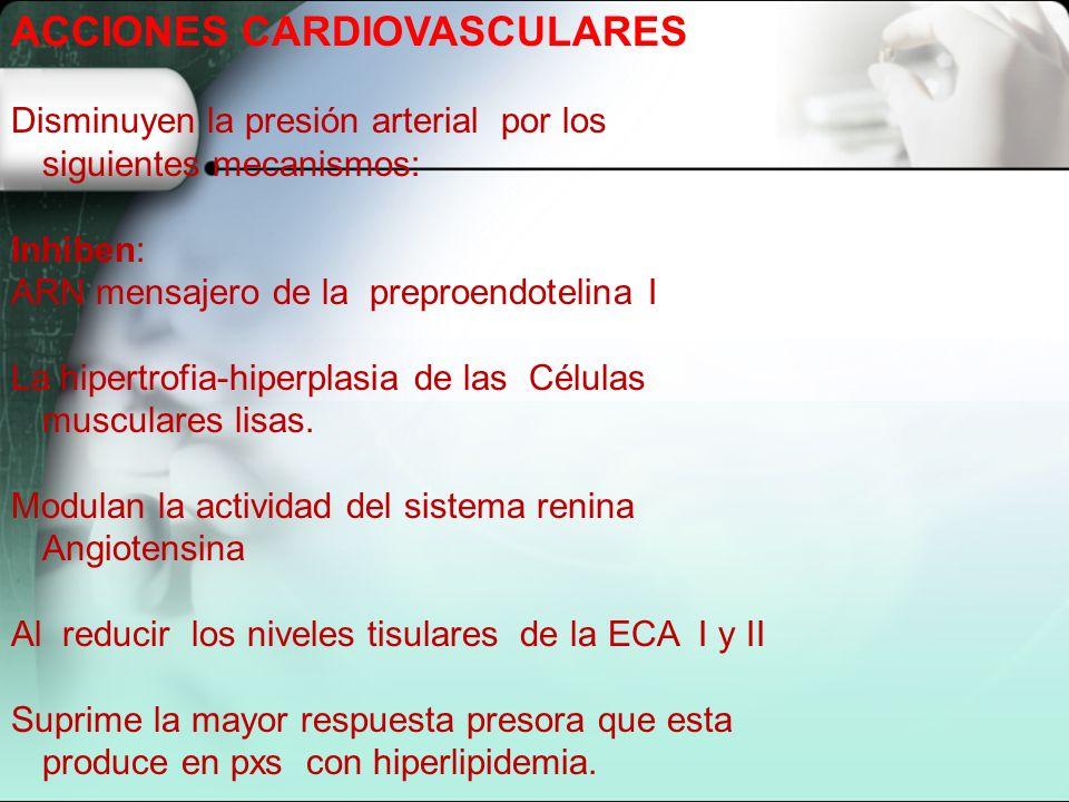 ACCIONES CARDIOVASCULARES