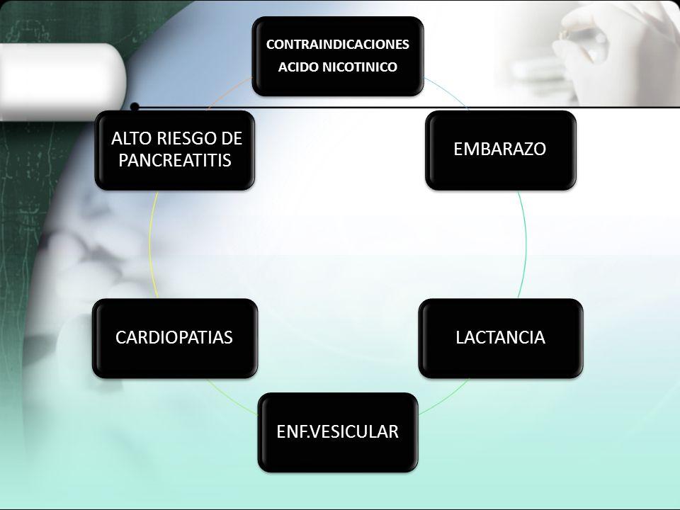 ALTO RIESGO DE PANCREATITIS