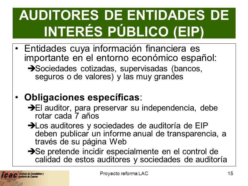 AUDITORES DE ENTIDADES DE INTERÉS PÚBLICO (EIP)