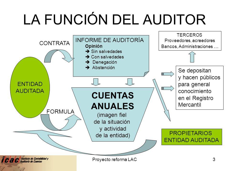 LA FUNCIÓN DEL AUDITOR CUENTAS ANUALES INFORME DE AUDITORÍA CONTRATA