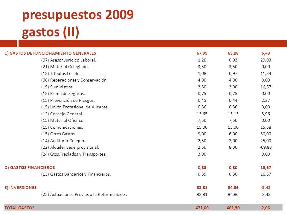 presupuestos 2009 gastos (II)